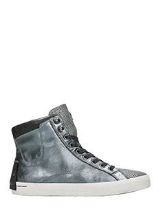 Crime-Sneakers alte in pelle antracite