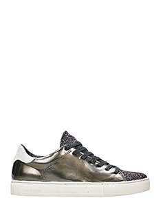 Crime-Sneakers basse in pelle laminata bronzo