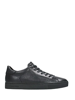 Crime-Sneakers basse in pelle nera