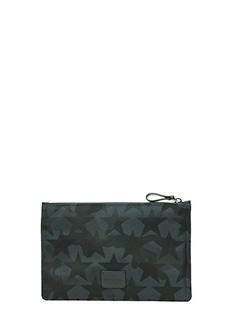 Valentino-Pochette Camustars in tessuto camouflage blue nero