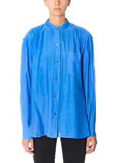Isabel Marant Etoile-Lixy blue cotton shirt