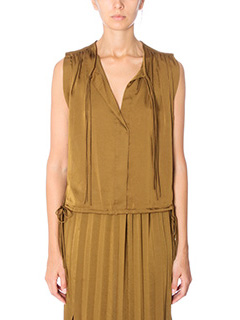 Isabel Marant Etoile-Top Hervey in cr�pe bronzo