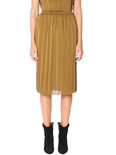 Isabel Marant Etoile-Heaven bronze chiffon skirt