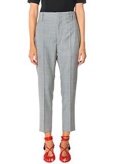 Isabel Marant Etoile-Pantaloni Noah in lana grigia