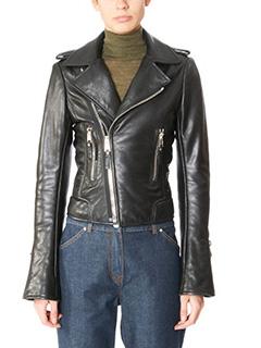 Balenciaga-Chiodo Biker in pelle nera