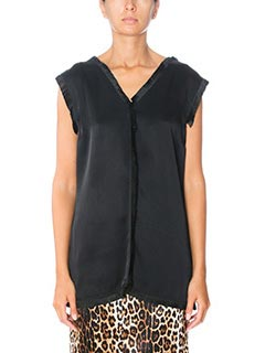 Stella McCartney-black silk topwear