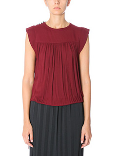 Isabel Marant Etoile-Top Neo in cr�pe bordeaux