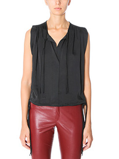 Isabel Marant Etoile-Top Hervey in cr�pe nera