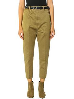 Isabel Marant Etoile-Pantaloni Moah in cotone khaki