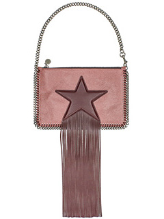 Stella McCartney-Pochette Falabella Purse Star in shaggy deer rosa