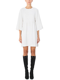 Isabel Marant-Vestito Aggy in crepe bianca