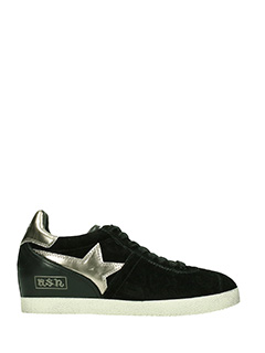 Ash-Sneakers Guepard in camoscio nero