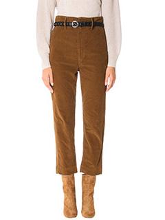 Isabel Marant Etoile-Field brown velvet pants