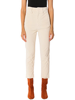Isabel Marant Etoile-Pantaloni Field in velluto beige