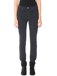 Isabel Marant Etoile-Pantaloni Elka in cotone nero