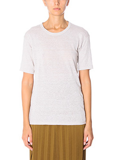 Isabel Marant Etoile-T-Shirt Keiran in cotone beige