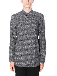 Givenchy-Camicia in cotone nero bianco