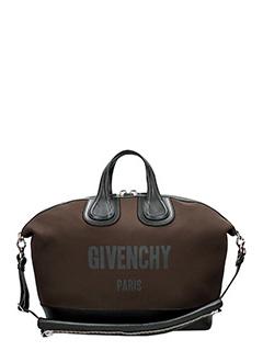 Givenchy-Borsa Nightingale in tessuto e  pelle marrone