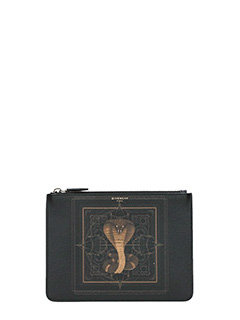 Givenchy-Pochette Pouch Media in pelle nera