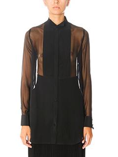 Givenchy-black silk shirt