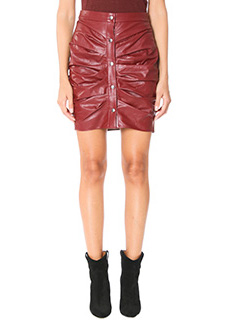 Isabel Marant Etoile-Gonna July in ecopelle bordeaux