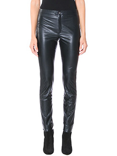 Isabel Marant Etoile-Leggings Jeffery in ecopelle nera