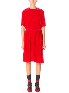 Isabel Marant Etoile-Vestito Landen in ciniglia rossa