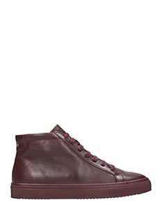 National Standard-Sneakers alte in pelle bordeaux