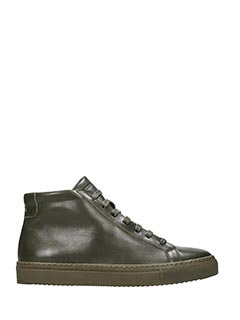 National Standard-Sneakers alte in pelle verde