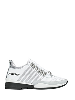 Dsquared 2-Sneakers 251 in pelle bianca