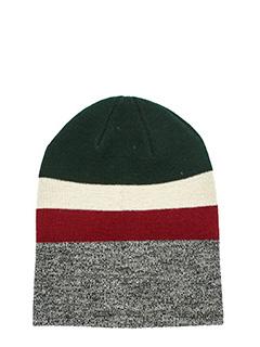 Isabel Marant Etoile-Cappello Dreamy in lana grigia rossa verde