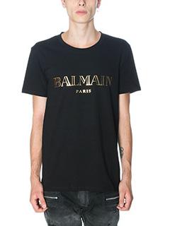 Balmain-T-Shirt in cotone nero