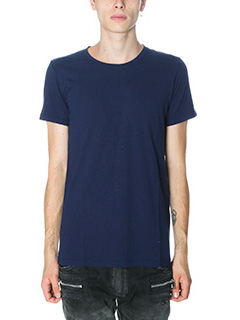 Balmain-T-Shirt in cotone blue