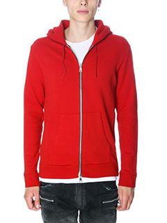 Balmain-Felpa in cotone rosso