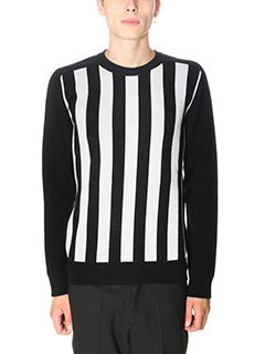 Balmain-Maglia in lana nera bianca