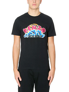 Kenzo-T-Shirt Pop Corn in cotone nero