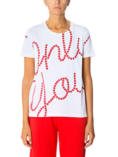 Kenzo-T-Shirt Only You in cotone bianco rosso