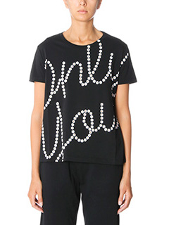 Kenzo-T-Shirt Only You in cotone nero bianco