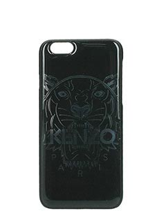 Kenzo-Cover Tigher per Iphone 6/6s in pvc nero e argento