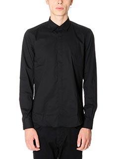 Low Brand-Camicia Shirt S17 Pop in cotone nero