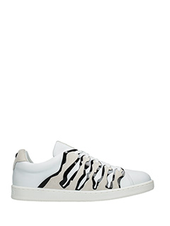 Kenzo-Sneakers K-Ing in pelle bianca e nera