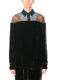 Stella McCartney-black chenille shirt