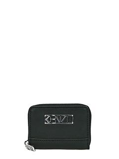 Kenzo-Portacarte Kalifornia Wallet in pelle nera