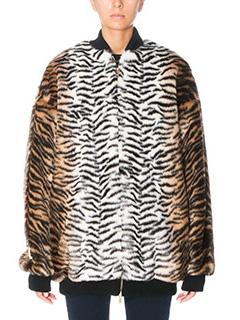 Stella McCartney-Giacca Leopard in eco pelliccia animalier