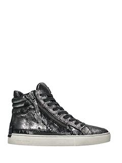 Crime-Sneakers alte in pelle metal antracite