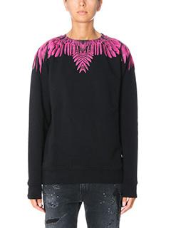 Marcelo Burlon-Naibi black cotton sweatshirt