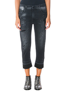 Marcelo Burlon-Jade boyfriend black denim jeans