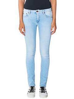 Off White-cyan denim jeans