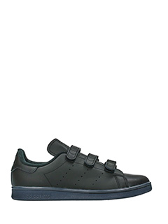Adidas-Stan smith navy sole black leather sneakers