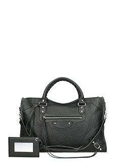 Balenciaga-Clas city  black leather bag